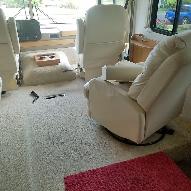 Large seating area for driving and relaxing