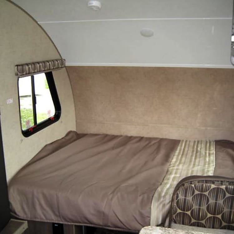 Dinette converted to double bed