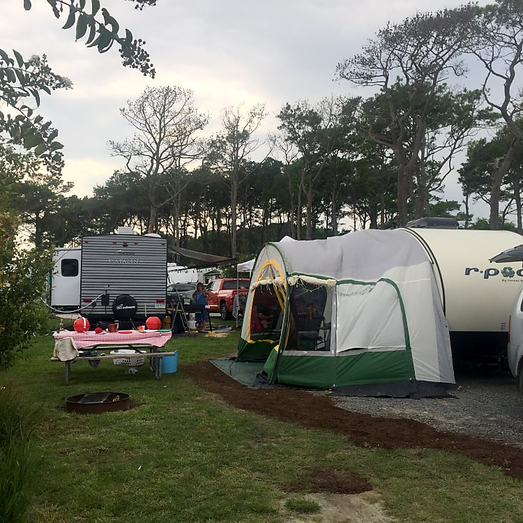 At the Castaways OC resort in OC, MD. R- dome provides additional living space and shelter.