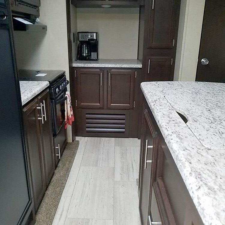 Kitchen and plenty of storage and pantry space