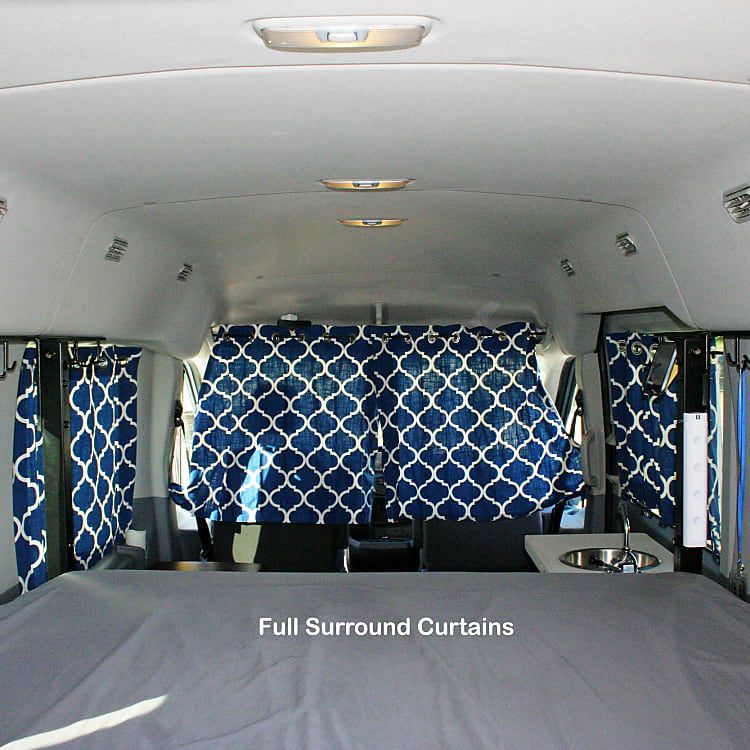 Shows all the curtains