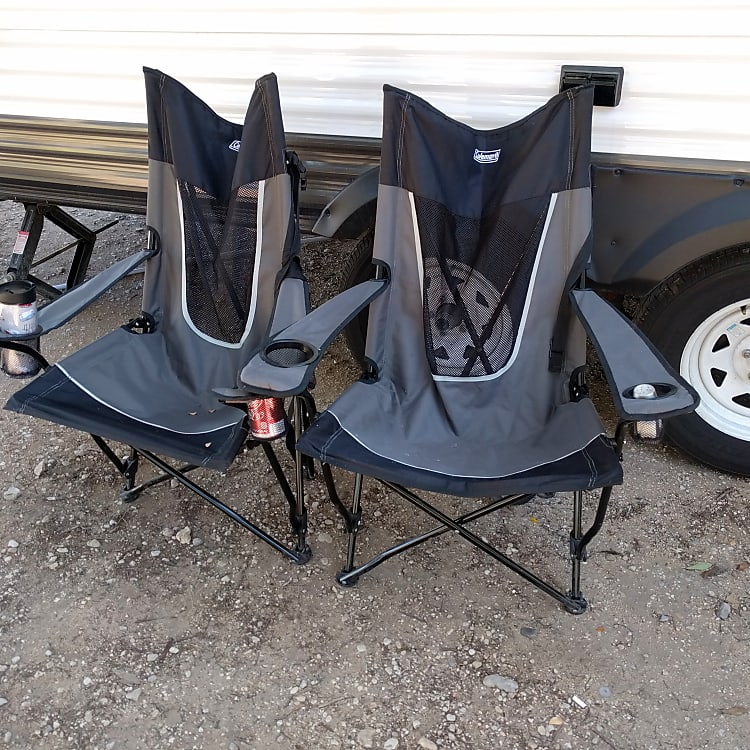 Camping chairs available for your use!