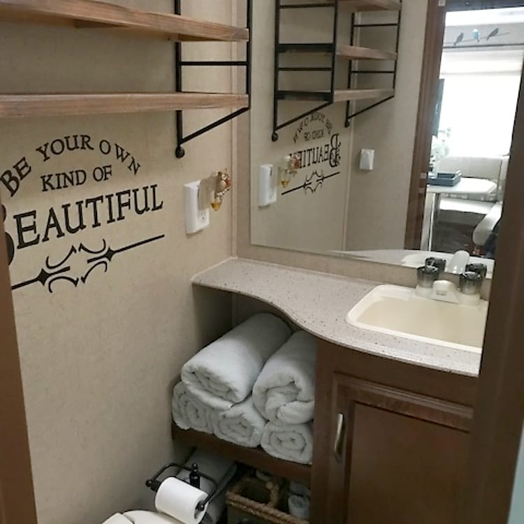 *Full bathroom with toilet, sink and full shower