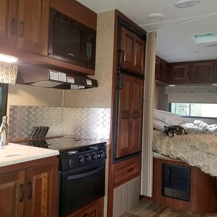 Clean, modern interior makes this your home away from home on your adventure!