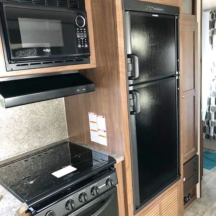 Refrigerator, stove, oven, and microwave