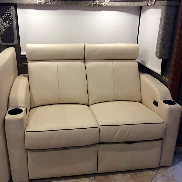 Comfortable reclining seats that converts into a sleeping area