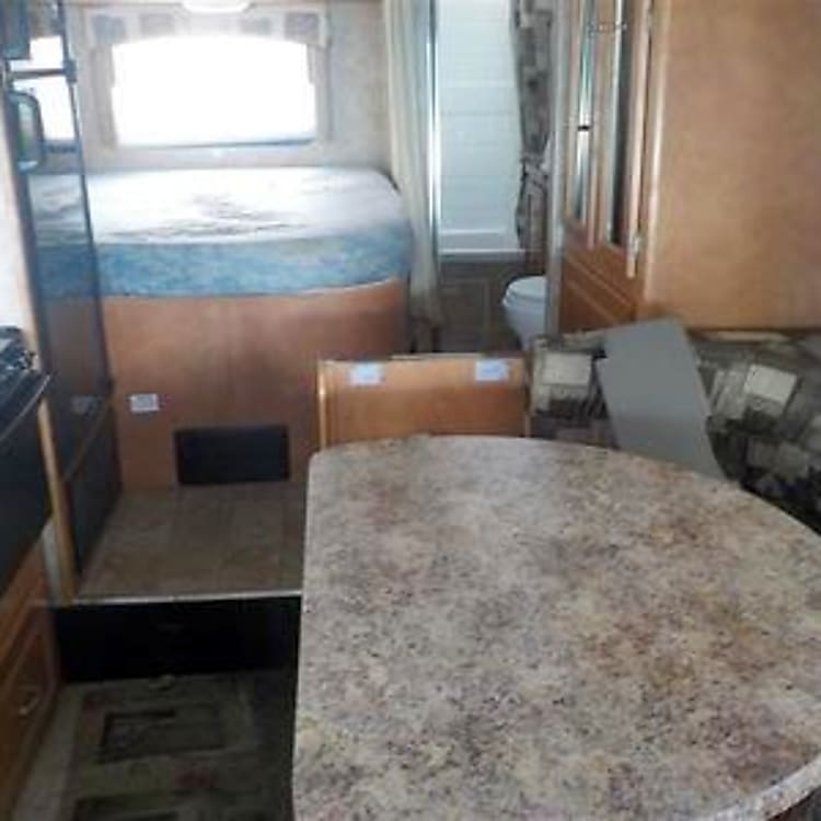Dinette and rear bed