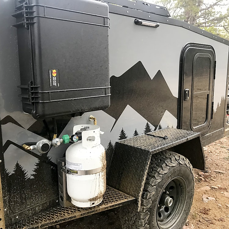 11 lb. propane tank included with the rental to fuel your stove, furnace, and on demand water heater for the shower.