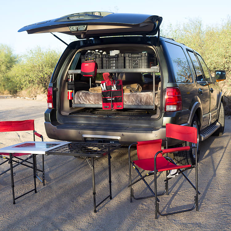 Everything you need for a successful road trip and camping trip...all compressed into an easy-to-drive and easy-to-park footprint!