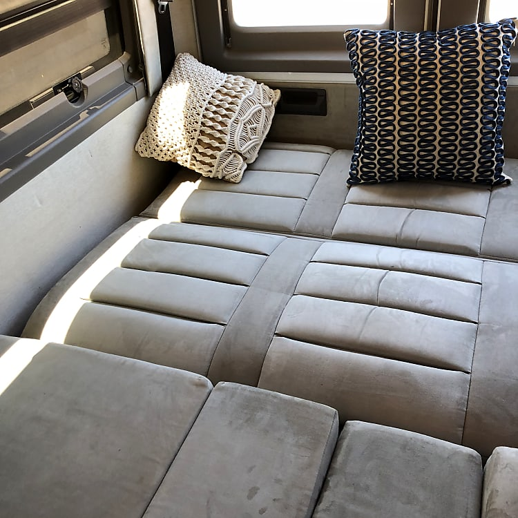 Read seating collapsed to a near king sized bed!