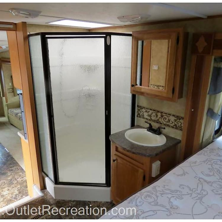 master bedroom and shower