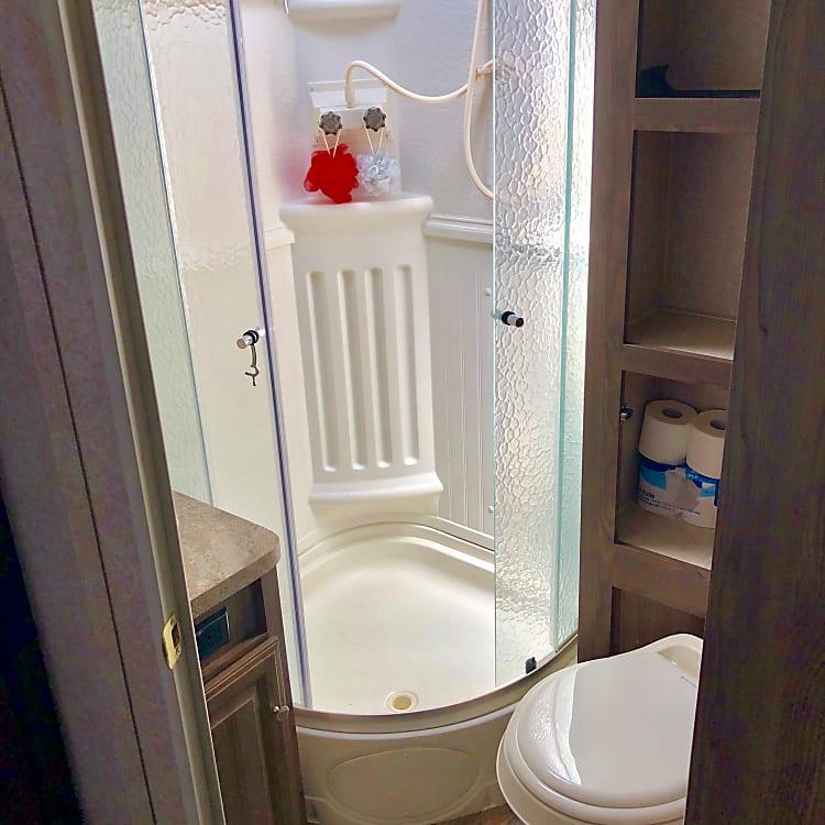 Inside shower