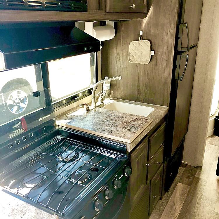 Sink/range/prep area