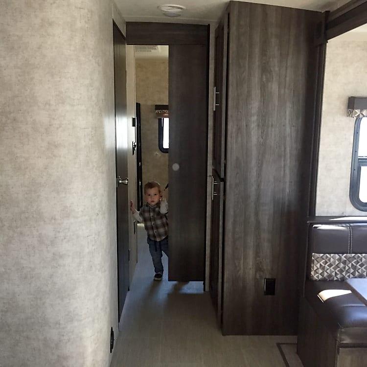 Hallway to bunk house