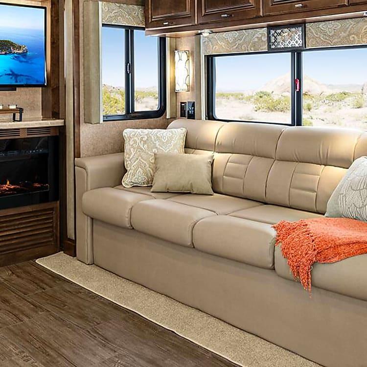 sofa converts to sofa-bed