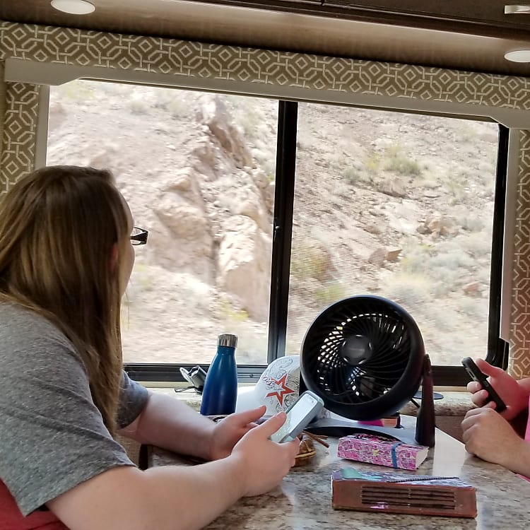 Family Enjoying the ride out to Hover Dam, NV