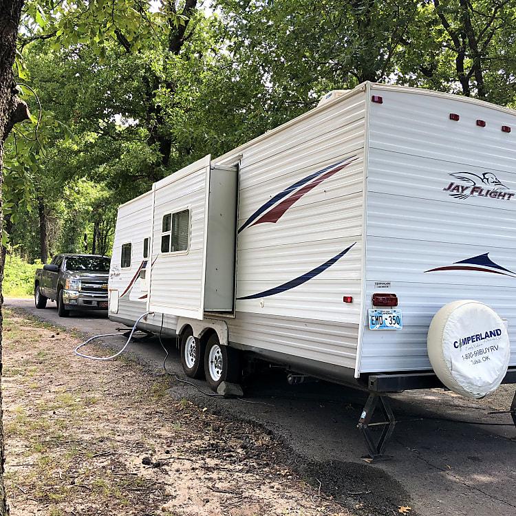 Rear of camper.