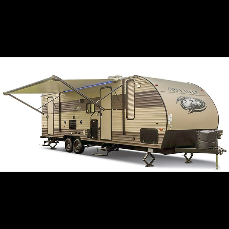 This is the perfect camper for active people that have toys to travel with. Very well kept up and maintained.