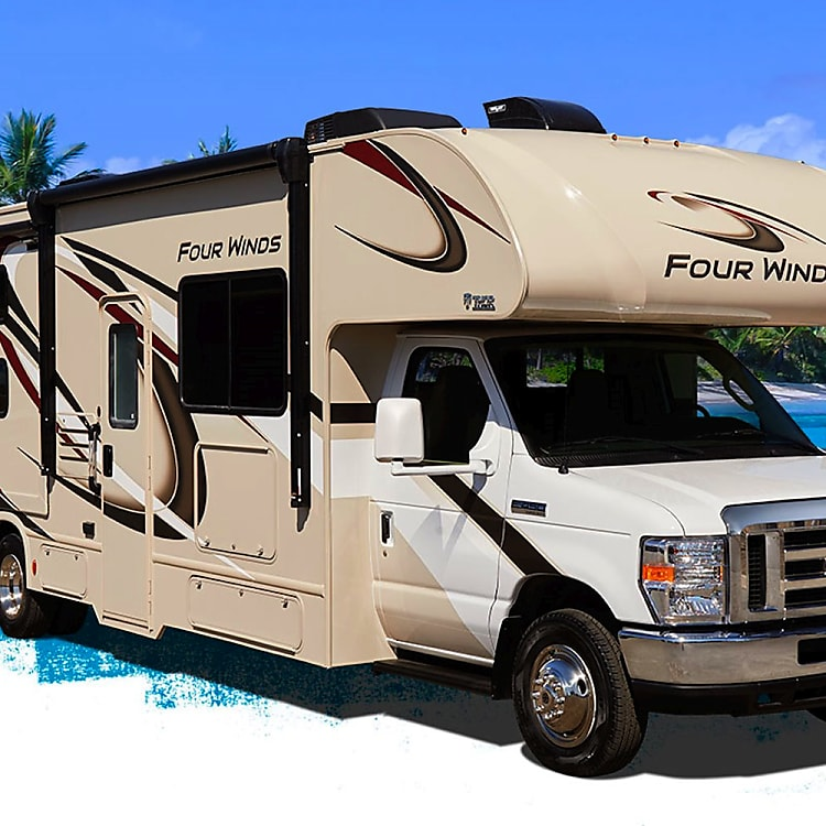 Exterior of 2019 Four Winds 28z. Color may vary. Interior photos coming!