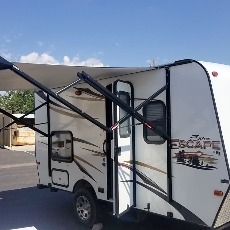 New electric powered awning