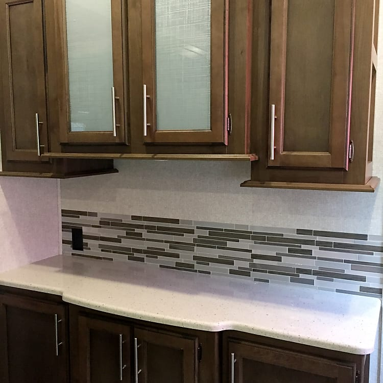 Kitchen breakfast bar with plenty of storage