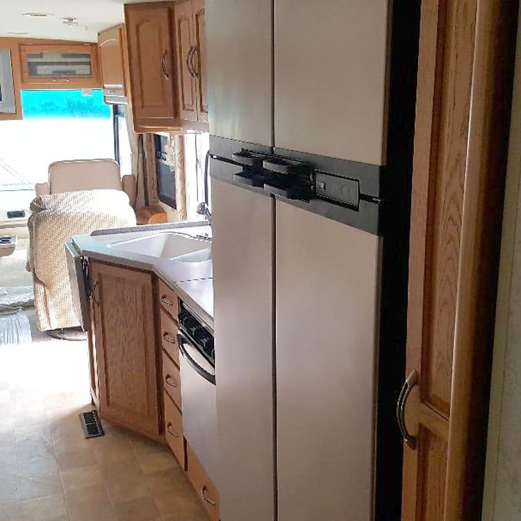 large double door fridge