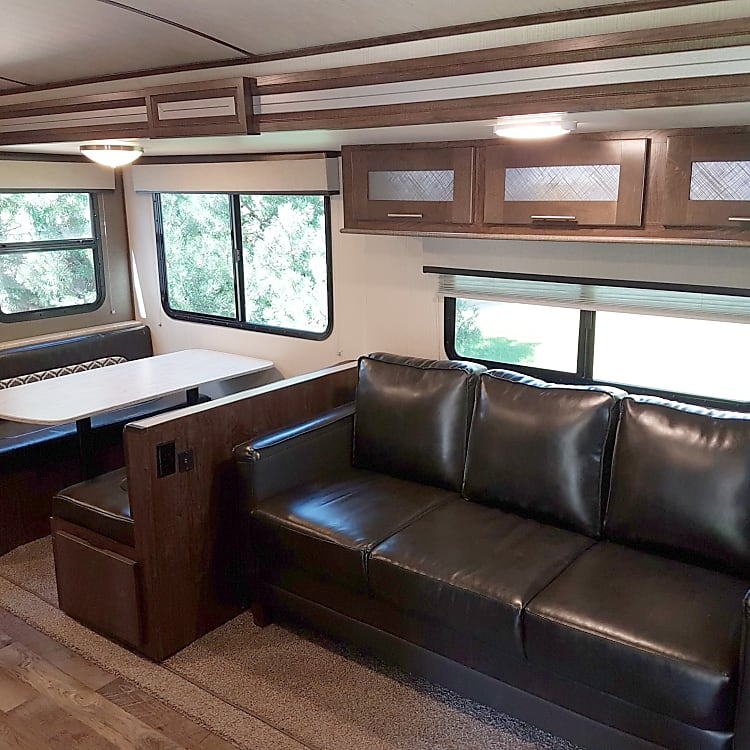 Comfortable seating for the entire family - both convert to beds for extra sleeping arrangements