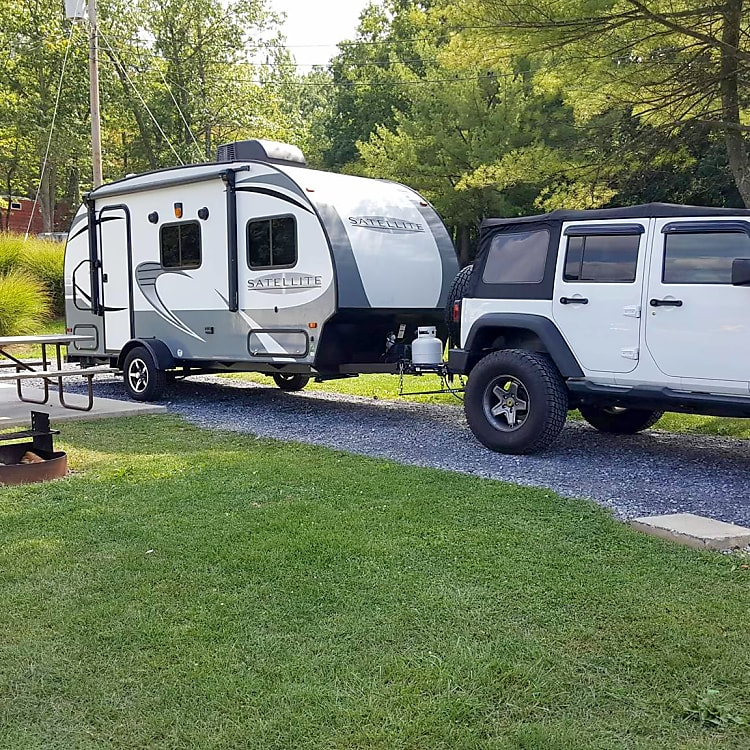 This is my Camper being hauled by my 6 cyclinder Jeep