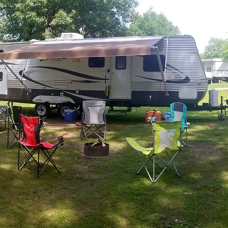 All set up at our campsite