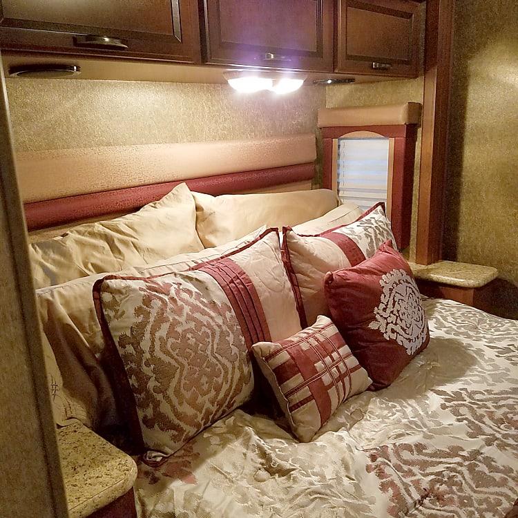 Back bedroom with slide.  Queen size bed.
