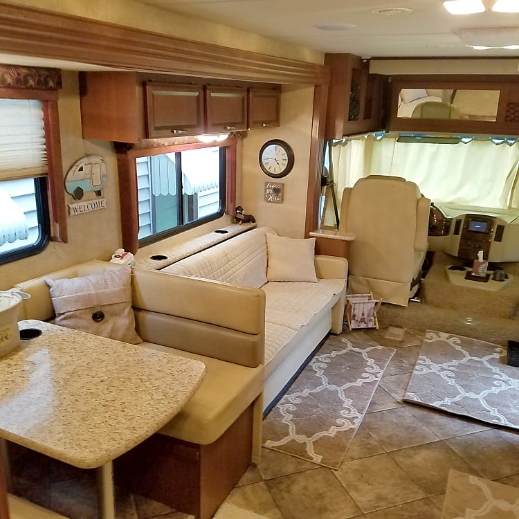 Dinette and sofa convert to beds if needed