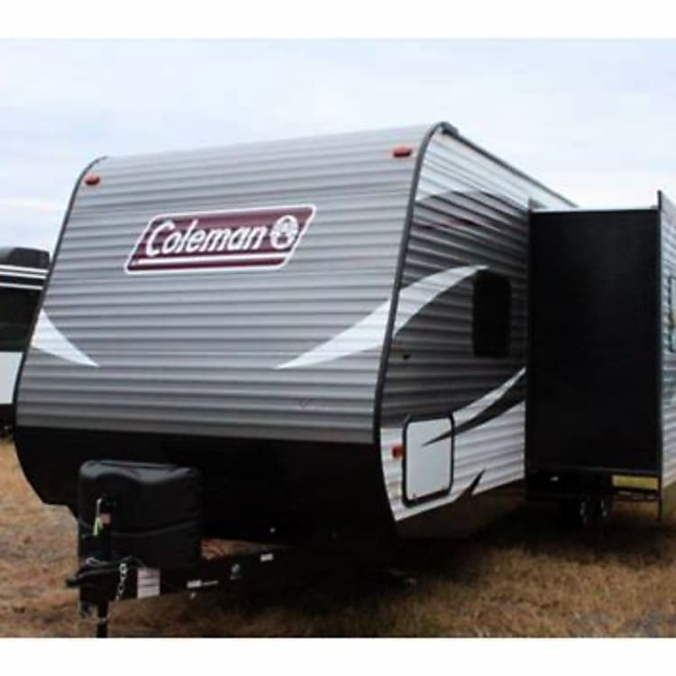 Front of camper and slide out located at booth