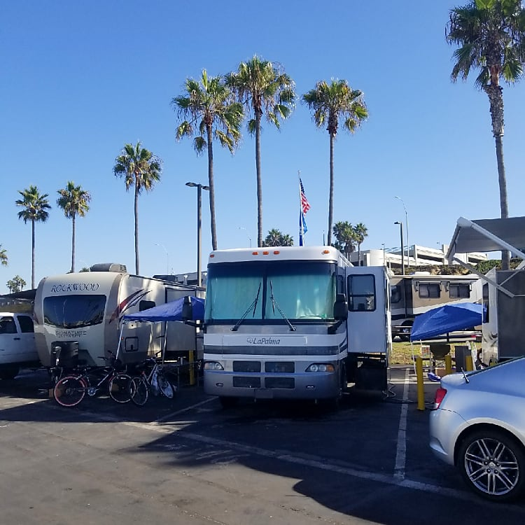 Parked at Dockweiler State Beach.