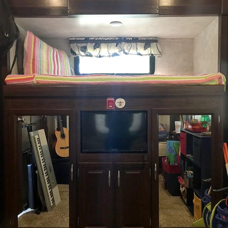 Bunk room..1 bunk w/TV & storage