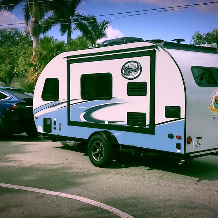 So light, even a Tesla can tow it! -Actual travel trailer setup!