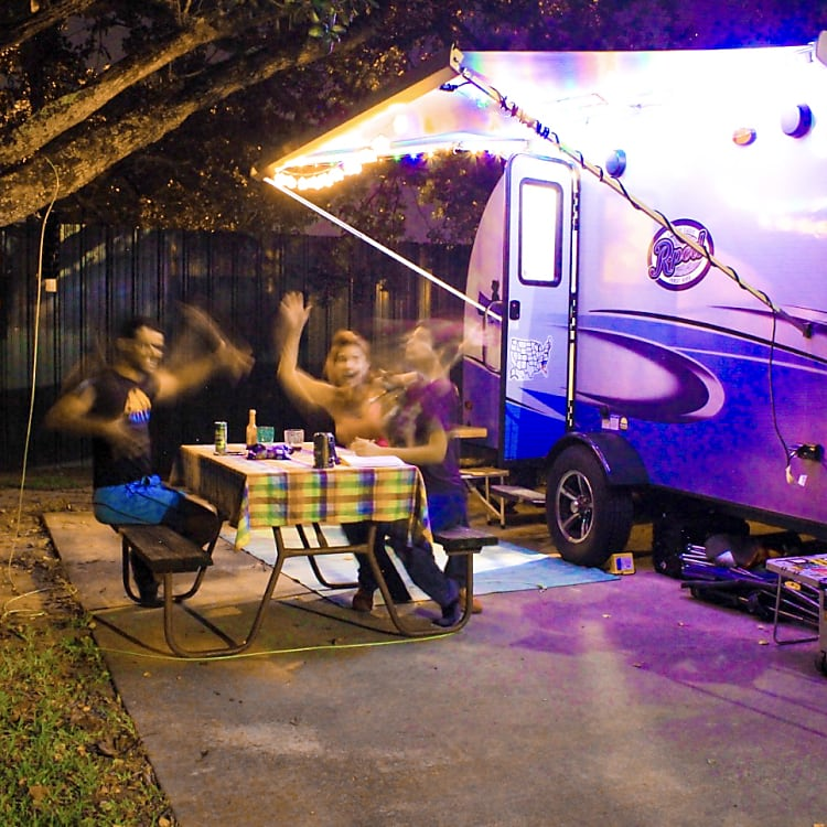 Insert YOUR family HERE!! -Actual travel trailer setup!