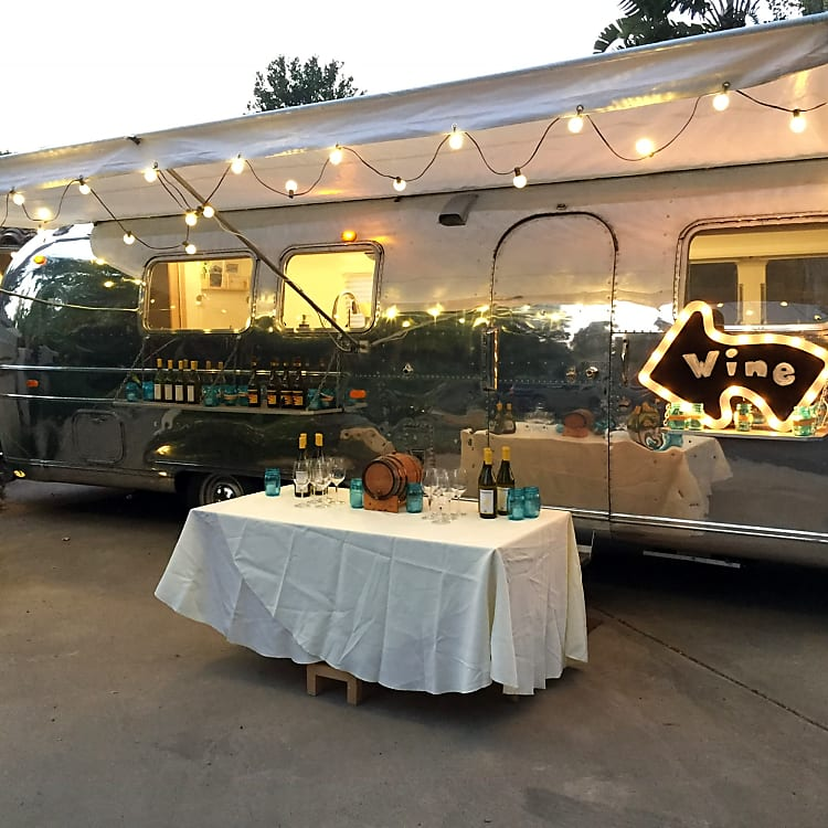 The airstream also makes a great concession centerpiece for a party or get together.