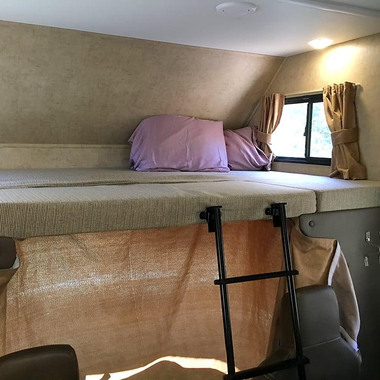 Queen bunk over cab
