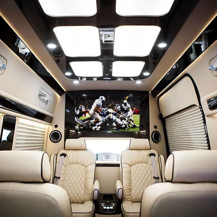 Hand-crafted interior with first-class lighting and electronics