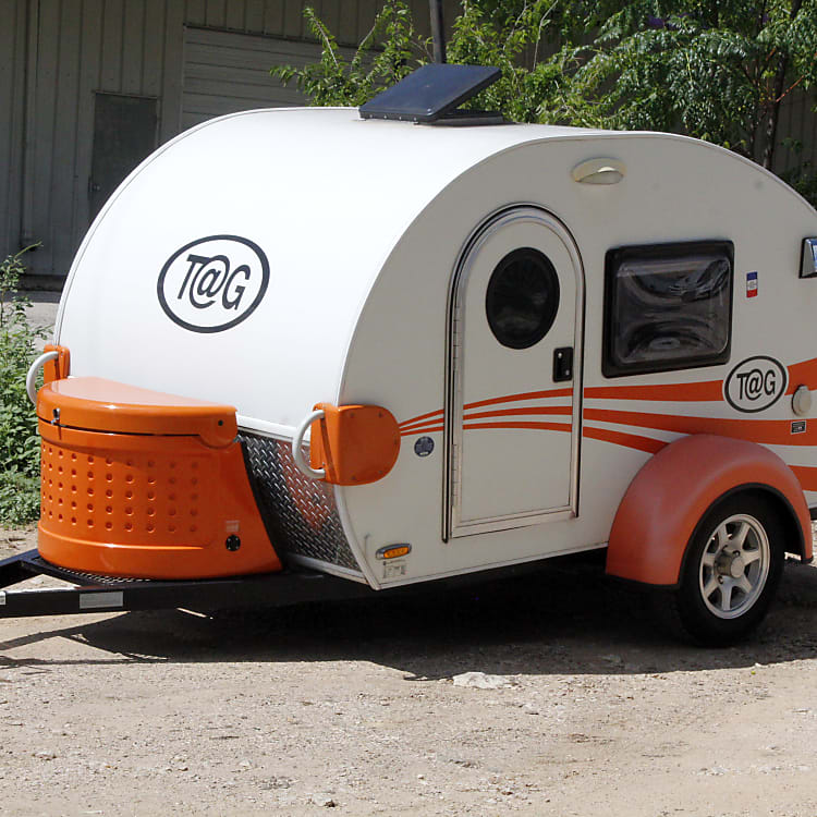 This classic teardrop camper is perfect for the minimalist camper. Comfortable, but so lightweight, you might forget it's there!