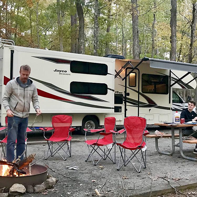 All setup at camp