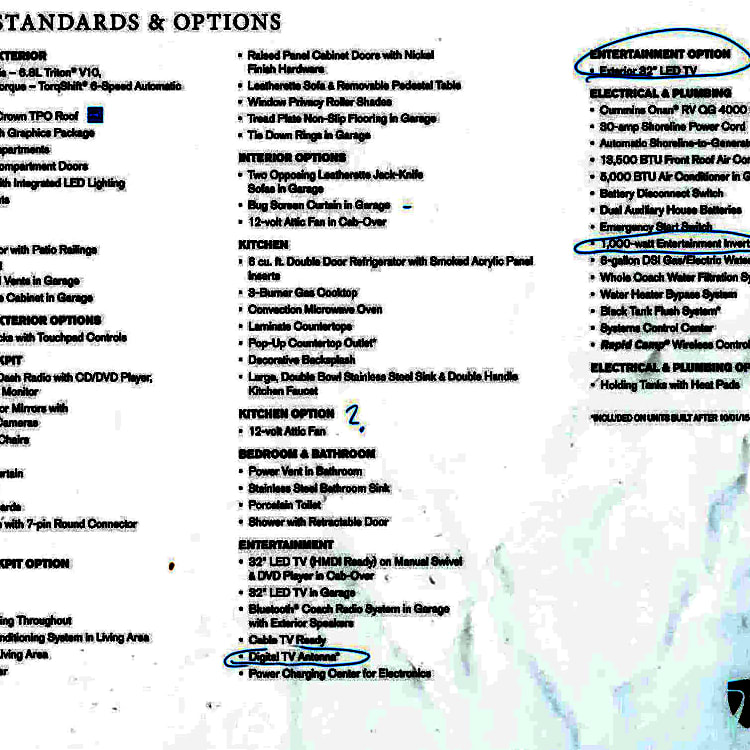 Features list from the manufacturer.
