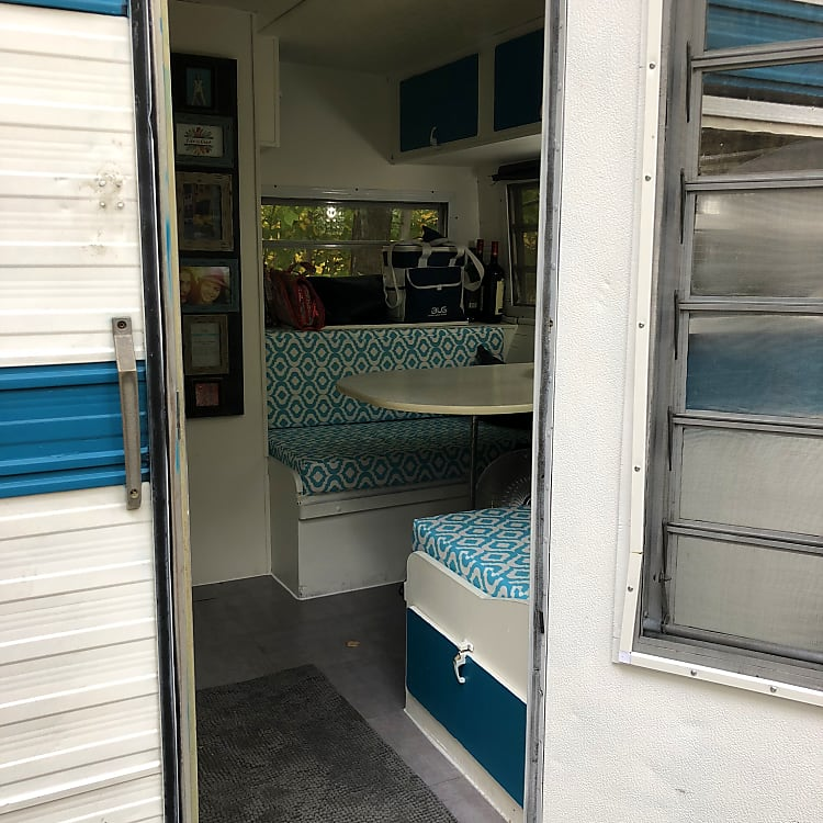 Entrance into camper