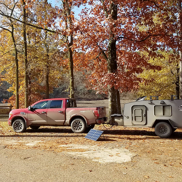 Off the grid camping.