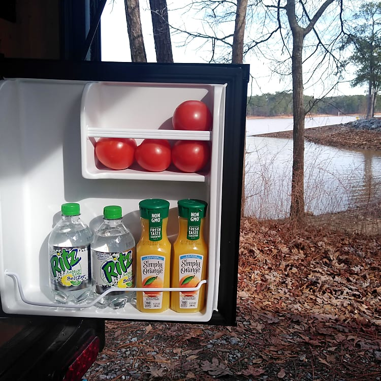 Use the fridge to hold small items