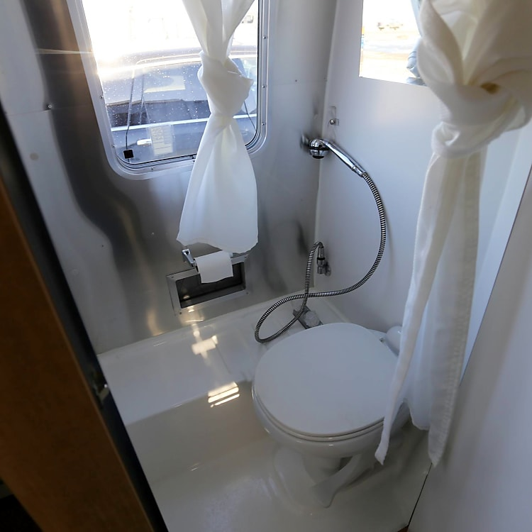 The bathroom might be small, but it's nice to have available.