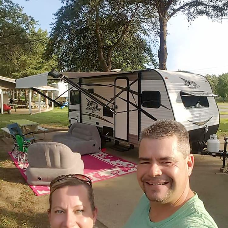 Our first camping trip at Diamond Lake Resort in Owensboro, My with the Jayco Flight. Labor Day 2018!