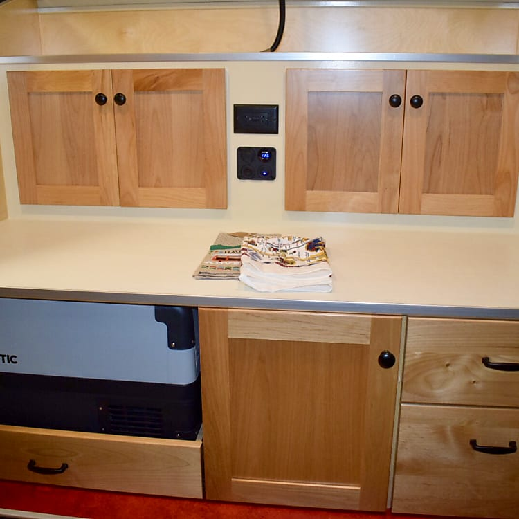 Kitchen Galley area.  Includes lights and stereo speakers!