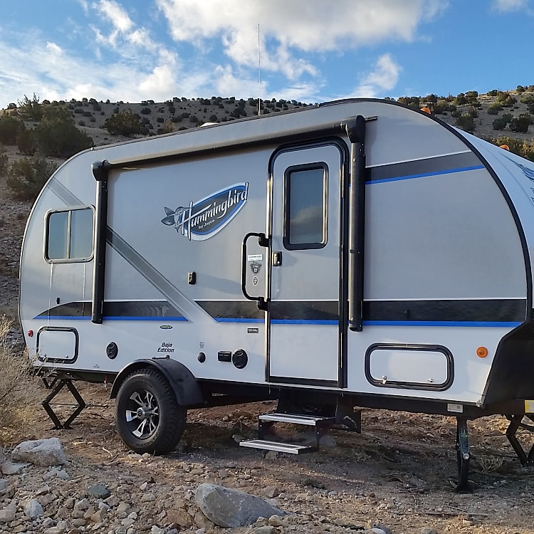 This camper has all you need for your family trip, in a small light weight package.