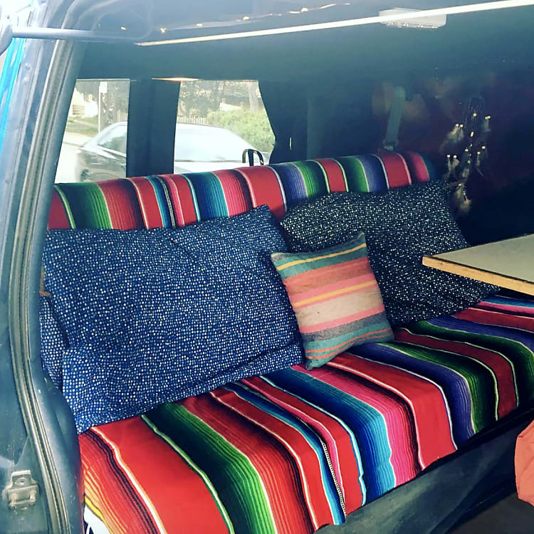 seating in the back